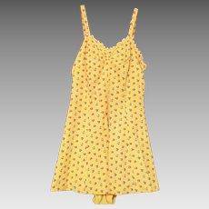 1940's 50's Bathing / Swim Suit Yellow Floral Print