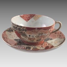 Vintage Japanese Satsuma Cup and Saucer
