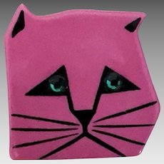 Cat Face Pin By Marie Christine Pavone