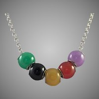 Swarovski Necklace With Jade Beads
