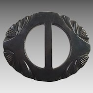 Dark Green Carved Belt Buckle