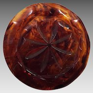 Rootbeer Root Beer Bakelite Carved Button
