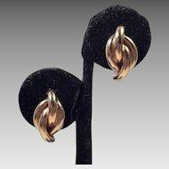 14K Gold Elongated Knot Pierced Earrings
