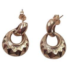 Vintage 14K Door Knocker Earrings Israel