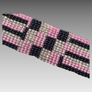 Art Deco Design Seed Bead Bracelet