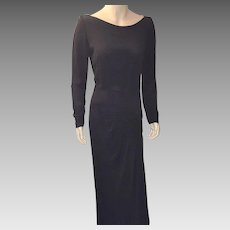 Vintage 1930's Original By Rudolph Long Black Dress