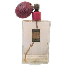 Rare Blue Perfume Bottle By Cartier Panthere De Cartier Empty Time