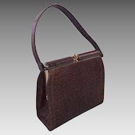 Vintage Brown Lizard Madwed Handbag Purse