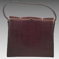 Vintage Andrew Geller Genuine Brown Lizard Purse