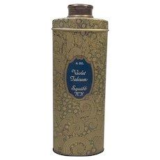 Vintage Violet Talcum Tin Squibb & Sons