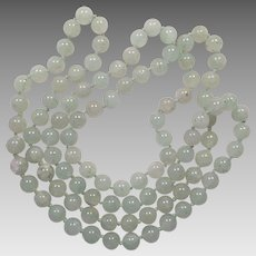 Vintage Celadon Jade Bead Necklace