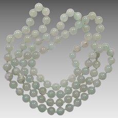 Vintage Celadon Jade Bead Necklace