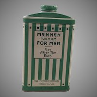 Vintage Arts & Crafts Mennen Talcum Powder Tin For Men
