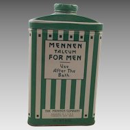 Vintage Arts and Crafts Mennen Talcum Powder Tin For Men