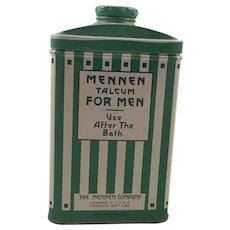 Vintage Arts & Crafts Mennen Talcum Powder Tin For Men