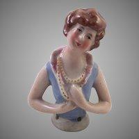 German Porcelain Half Doll Arms Away