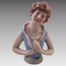 German Porcelain Half Doll Arms Away