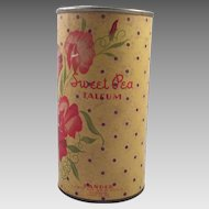 Vintage Sweet Pea Talcum Powder Container