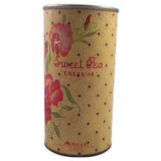 Vintage Sweet Pea Talcum Powder Container - Red Tag Sale Item