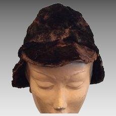 Interesting Very Old Fur Hat