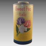 Vintage Sweet Pea Talc Talcum Powder Container
