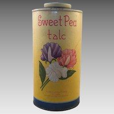 Vintage Sweet Pea Talc Talcum Powder Container