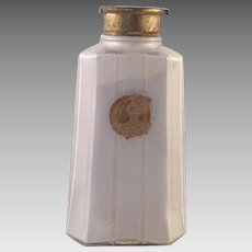 Vintage Houbigant Paris Glass Talcum Powder Bottle 1920's