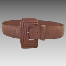 Vintage Lizard Skin Belt By Genny Of Italy