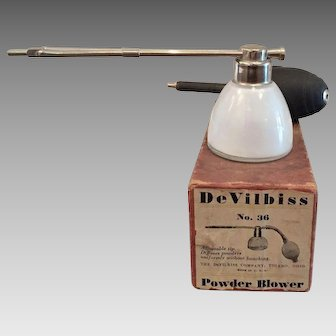 Early 1900's DeVilbiss Powder Blower Medical Device In Box