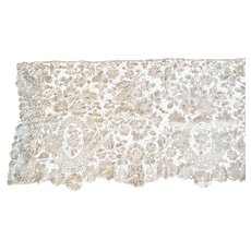 Antique Brussels Lace Yardage Almost Three Yards