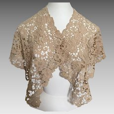 Antique Belgian Needle Lace Collar / Shawl