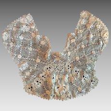 Antique Crocheted Irish Lace Collar