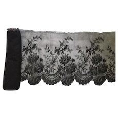 Antique Black Chantilly Lace 4.5 Yards