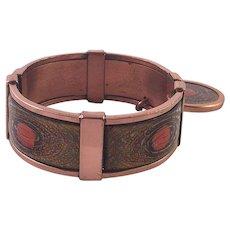 Vintage 1950's Matisse Copper and Enamel Hinge Bracelet