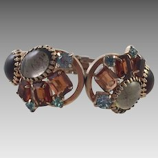 Vintage Juliana D & E Rhinestone Clamper Hinged Bracelet