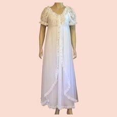 dd7c000699038 Vintage 1960's Ilise Stevens White Nylon Lace Peignoir : KLMAntiques ...