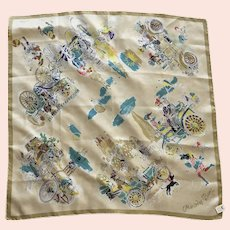 REDUCED Rare Silk Mercedes Benz Scarf Made In Western Germany Never Worn