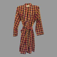REDUCED Vintage 1960's Men's Weldon Plaid Bath Robe