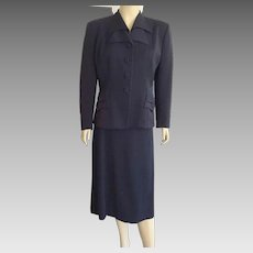 Vintage 1940's Navy Blue Suit