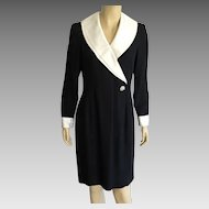 Vintage 1980's Morton Myles Black & White Cocktail Dress