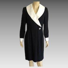 Vintage 1980's Morton Myles Black & White Cocktail Dress