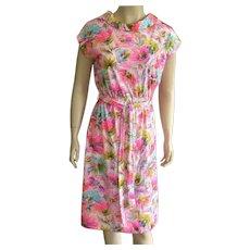 1960's David Crystal Bright Colored Dress