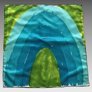 Vintage 1970's Vera Neumann Square Scarf Never Worn With Tags