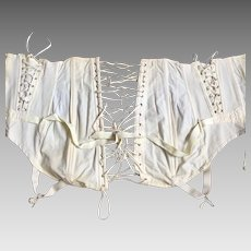 Vintage White Cotton Corset By Camp Size 27