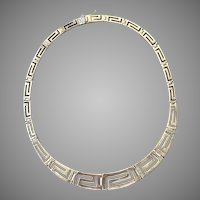Modernist Sterling Silver Panel Necklace