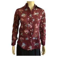 1970's Peck & Peck Floral Print Shirt NWT