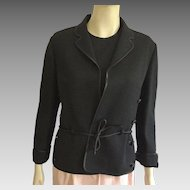 Vintage Gino Paoli Black Wool Top & Jacket Made In Italy