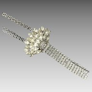 Vintage Napier Glamour Rhinestone Pendant Necklace