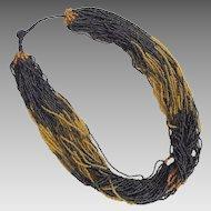 Vintage Ethnic Tribal Torsade Necklace