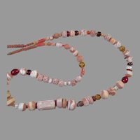 REDUCED Vintage Ethnic Tribal African Clay & Glass Bead Necklace
